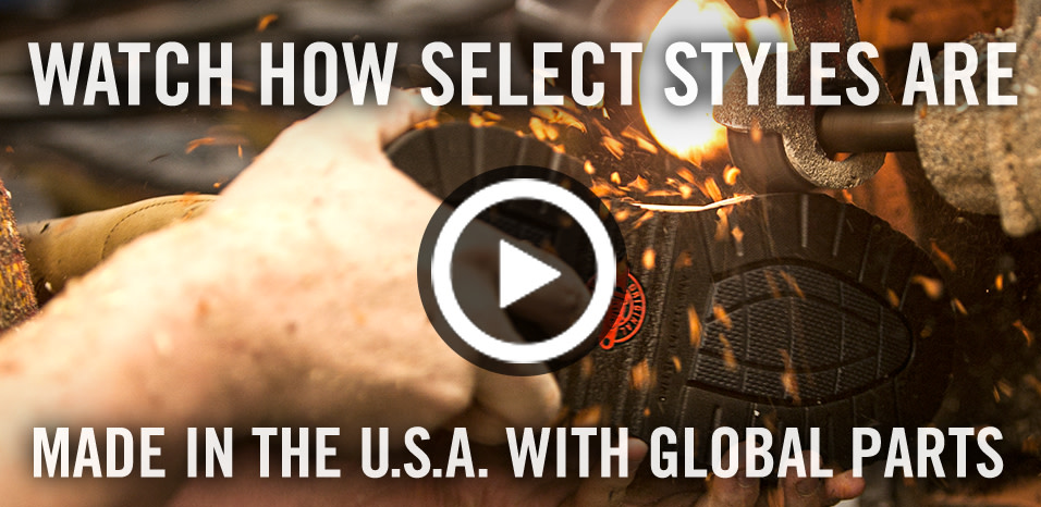See How Our Boots Are Made in the USA with the finest global parts