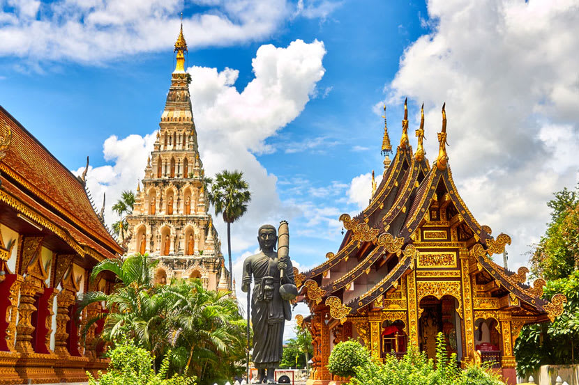 Cultural buildings and statues from Thailand