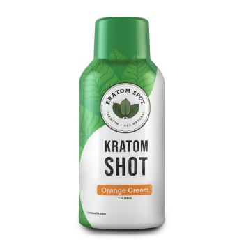 Orange Cream Kratom Shot, Standard Strength