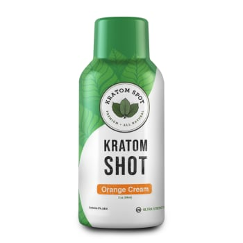 Orange Cream Kratom Shot, Ultra Strength