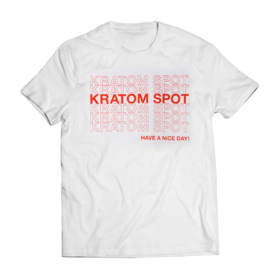 Kratom Spot Shirt, Front Unfolded