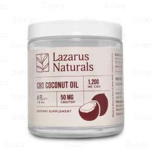 Lazarus Naturals CBD Coconut Oil, 1200mg