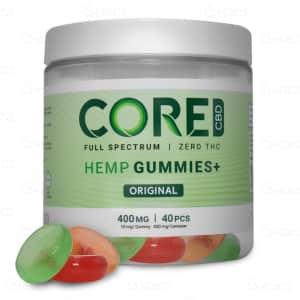 Core CBD Gummies, front label