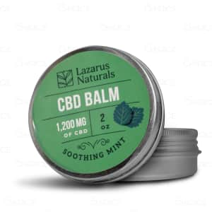 Lazarus Naturals Soothing Mint CBD Balm, 1200mg