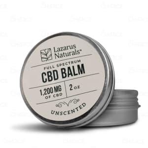 Lazarus Naturals Unscented CBD Balm, 1200mg