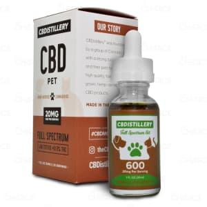 CBDistillery Pet Oil, 600mg