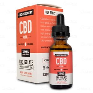 CBDistillery Isolate CBD Oil 100mg
