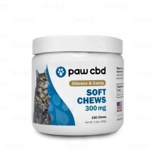 Paw CBD Chicken and Catnip Soft Chews, 300mg