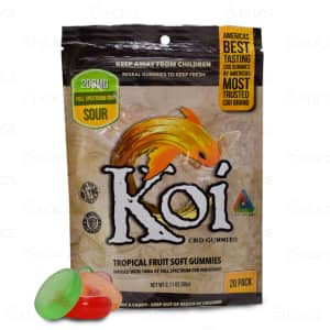 Koi Tropical Fruit Sour Gummies, 20 count