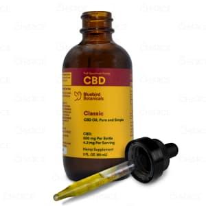 Bluebird Botanicals Hemp Classic CBD Oil, 500mg