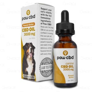 Paw CBD Peanut Butter Dog Oil, 3000mg