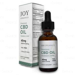 Joy Tranquil Mint Premium Hemp Oil, with 1350mg CBD