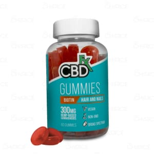 CBDfx Biotin Gummies for Hair and Nails, 60 count