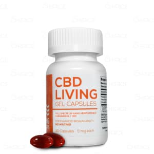CBD Living Full Spectrum Gel Capsules