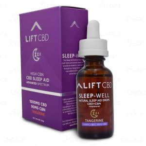 Lift CBD Tangerine Sleep Drops, 1500mg