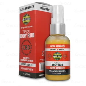Uncle Bud's CBD Topical Body Rub, 120mg with pump applicator