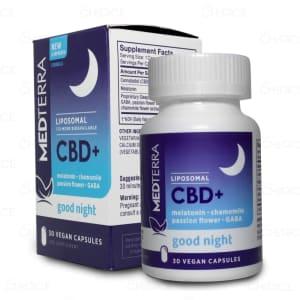 Medterra Liposomal CBD+ Nighttime Capsules, 30 count