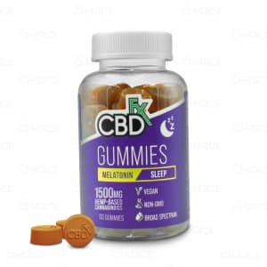 cbdFX Melatonin Gummies 1500mg