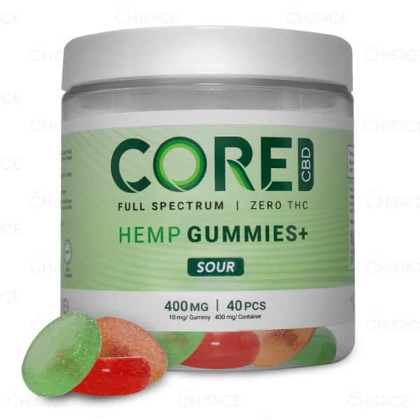 Core CBD Sour Gummies, 40 count