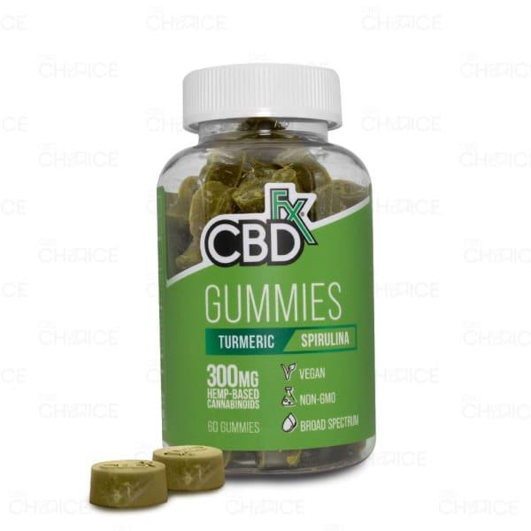 CBDfx Turmeric and Spirulina Gummies, 60 count