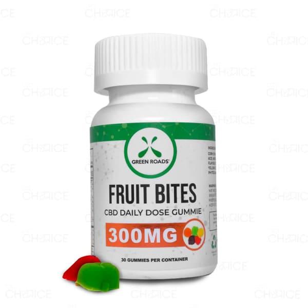 Green Roads Gummy Fruit Bites, 300mg