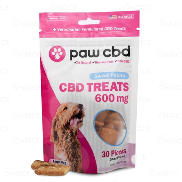 Paw CBD Sweet Potato Dog Treats, 600mg