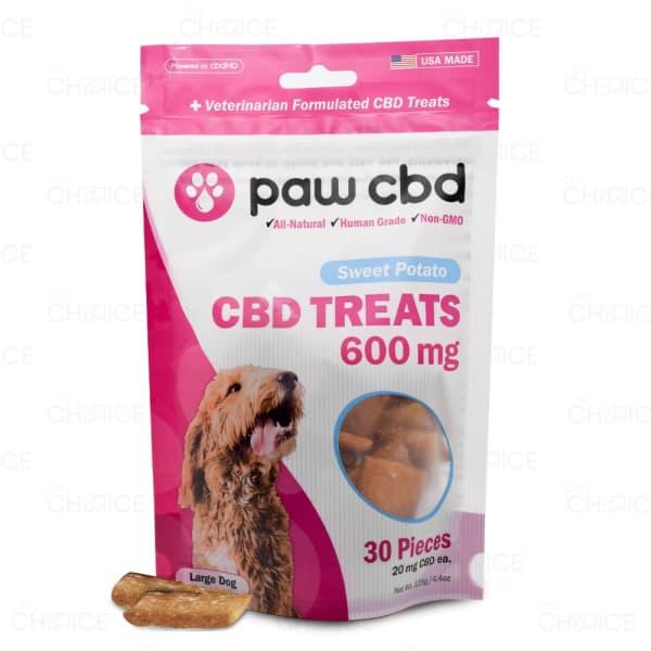 Paw CBD Sweet Potato Dog Treats, 600mg
