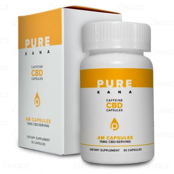 PureKana AM CBD Capsules with Caffeine, 30 count