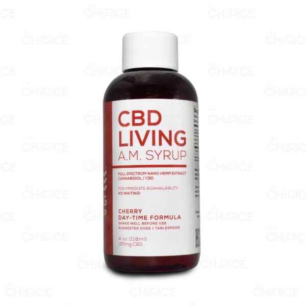CBD Living Cherry Flavored A.M. Syrup, 120mg