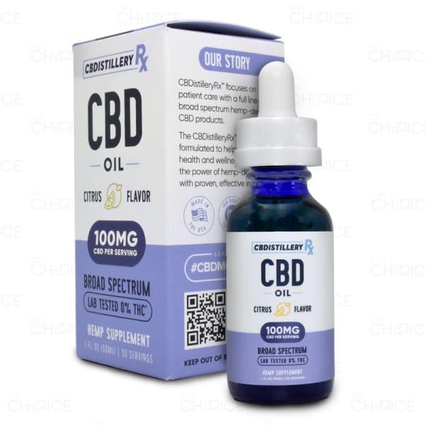 CBDistillery Broad Spectrum Citrus CBD Oil 3000mg tincture
