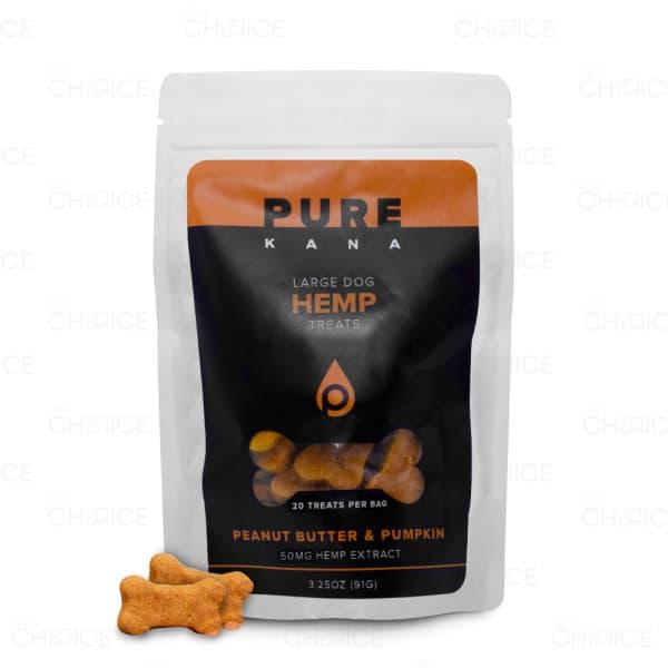 PureKana Peanut Butter and Pumpkin Dog Treats, 50mg bag