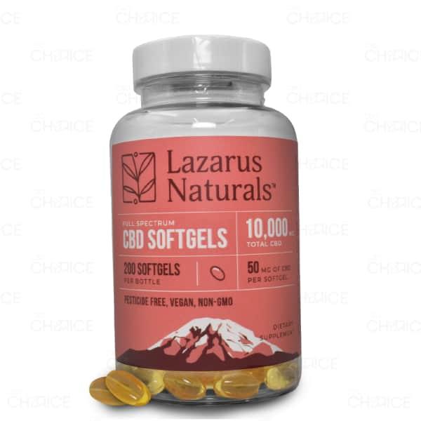 Lazarus Naturals CBD Capsules, 50mg 200 count