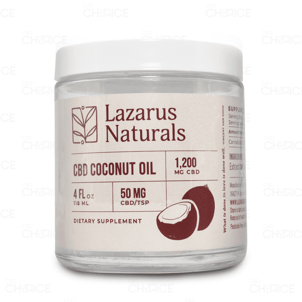 Lazarus Naturals Full Spectrum CBD Coconut Oil