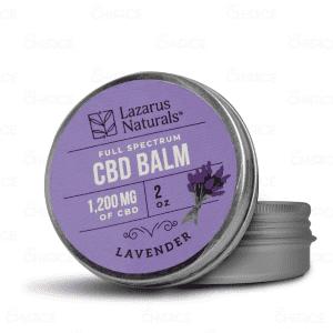 Lazarus Naturals Lavender CBD Balm, 1200mg