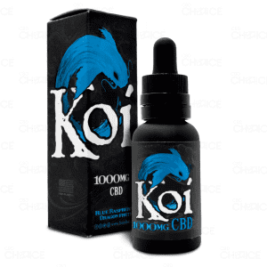 Koi CBD Blue Raspberry Dragonfruit Vape, 1000mg