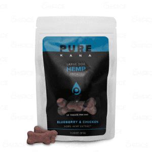 PureKana Blueberry and Chicken Dog Treats, 50mg bag