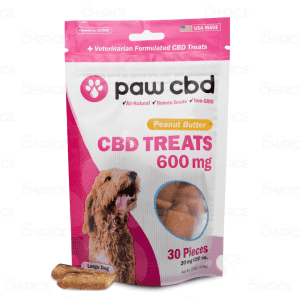 Paw CBD Peanut Butter Dog Treats, 600mg