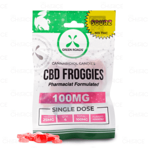 Green Roads CBD Sour Froggies, 100mg
