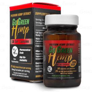 GoGreen Hemp CBD Softgels with Curcumin, 25mg
