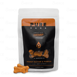 PureKana Peanut Butter and Pumpkin Dog Treats, 50mg bag