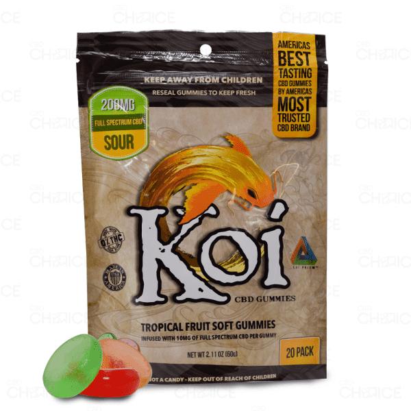 Koi Tropical Fruit Sour Gummies, 20 count