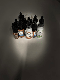 CBD oil tinctures clumped together