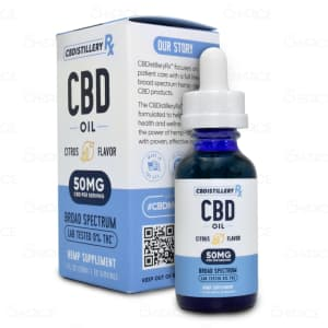 CBDistillery Broad Spectrum Citrus CBD Oil 1500mg tincture