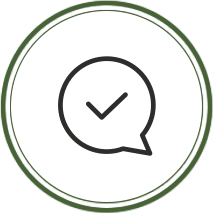 A confirmation icon.