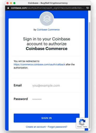 Coinbase checkout page 3 at Kratom Spot
