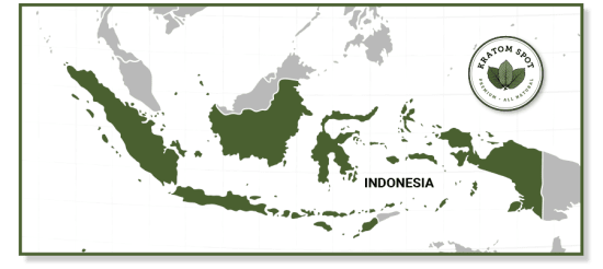 Kratom Map of Indonesia