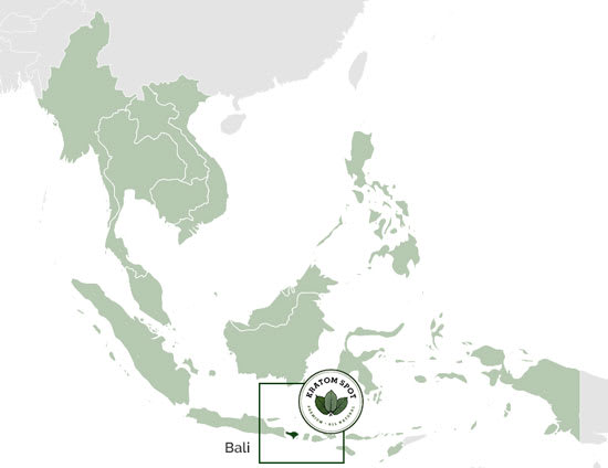 A map highlighting Bali