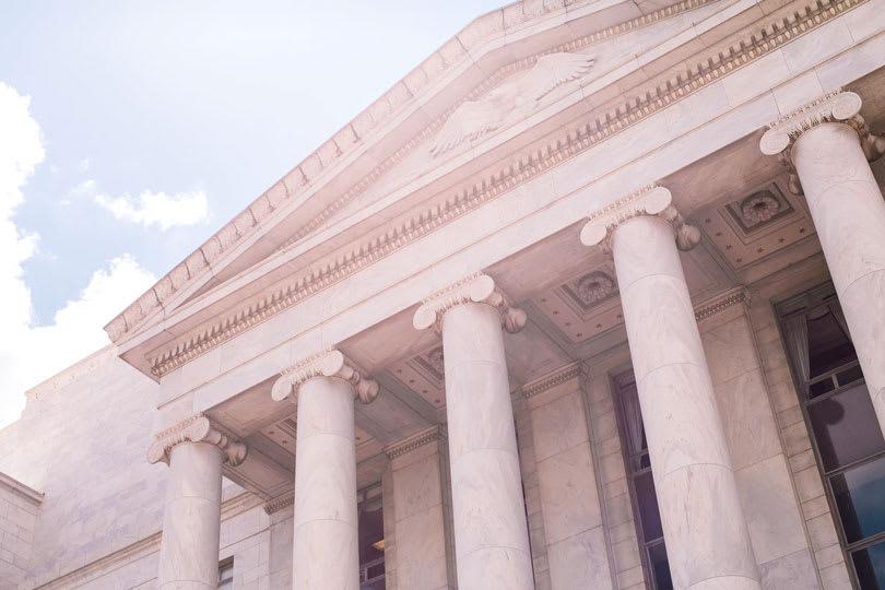 White concrete government building