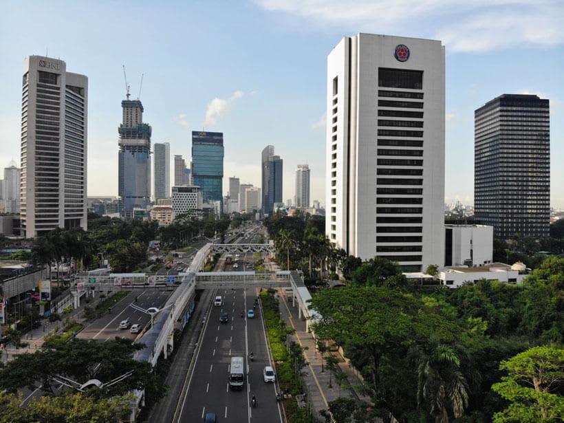 A modern Indonesian cityscape