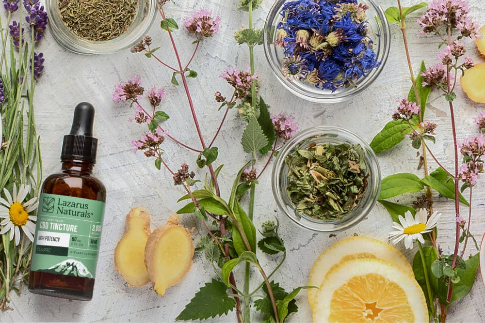 A CBD tincture with other botanicals
